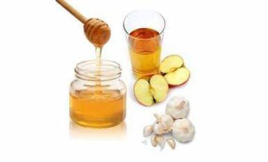 Напиток из яблочного уксуса, меда и чеснока