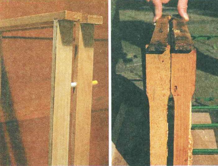 Дистанционные проставки между рамками. Манжетная проставка (слева), широкие боковые элементы (справа).