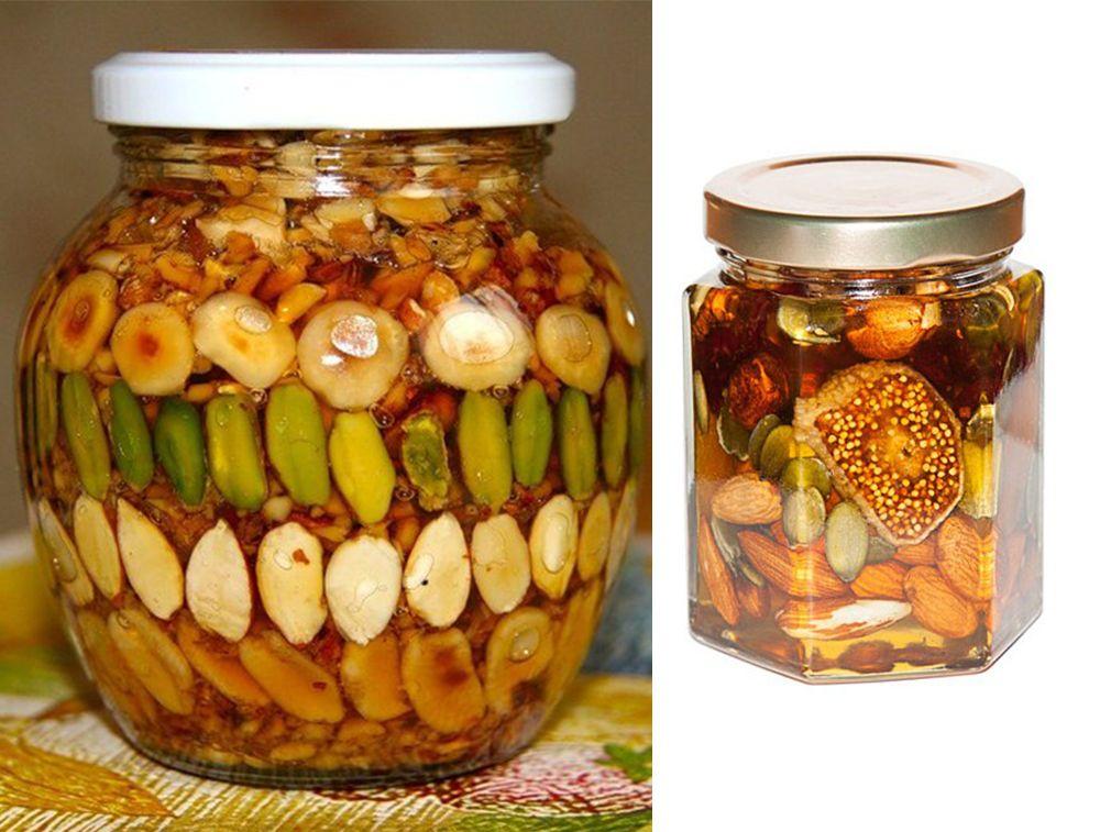 Мед с сухофруктами и орехами