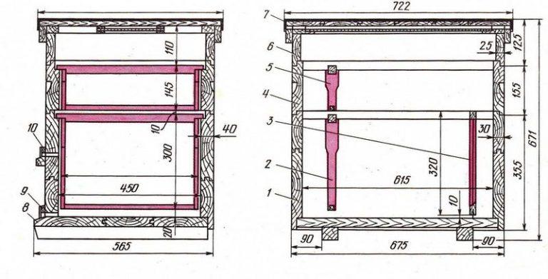Улей лежак: чертежи и размеры, изготовление своими руками