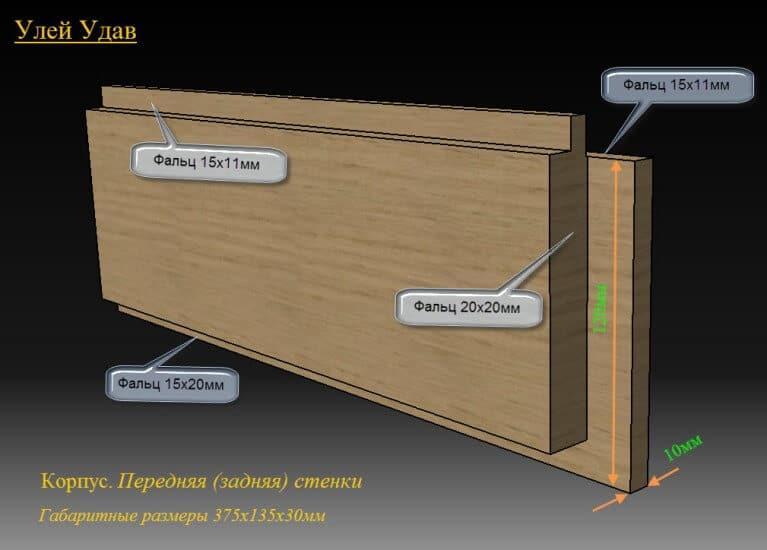 как сделать переднюю стенку улья